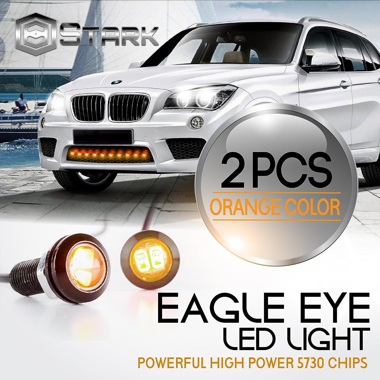 10 Pieces Orange Eagle Eye 18mm 5730SMD High Power LED Fog Light DRL Backup Signal Bulbs