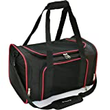 """Mr. Peanut's Airline Approved Soft Sided Pet Carrier, 17.5X11X11 Travel Tote with Soft Padded Bedding with Strong 1/4"""" Wood Base, Seatbelt & Luggage Attachment, Perfect for Cats and Small Dogs"""