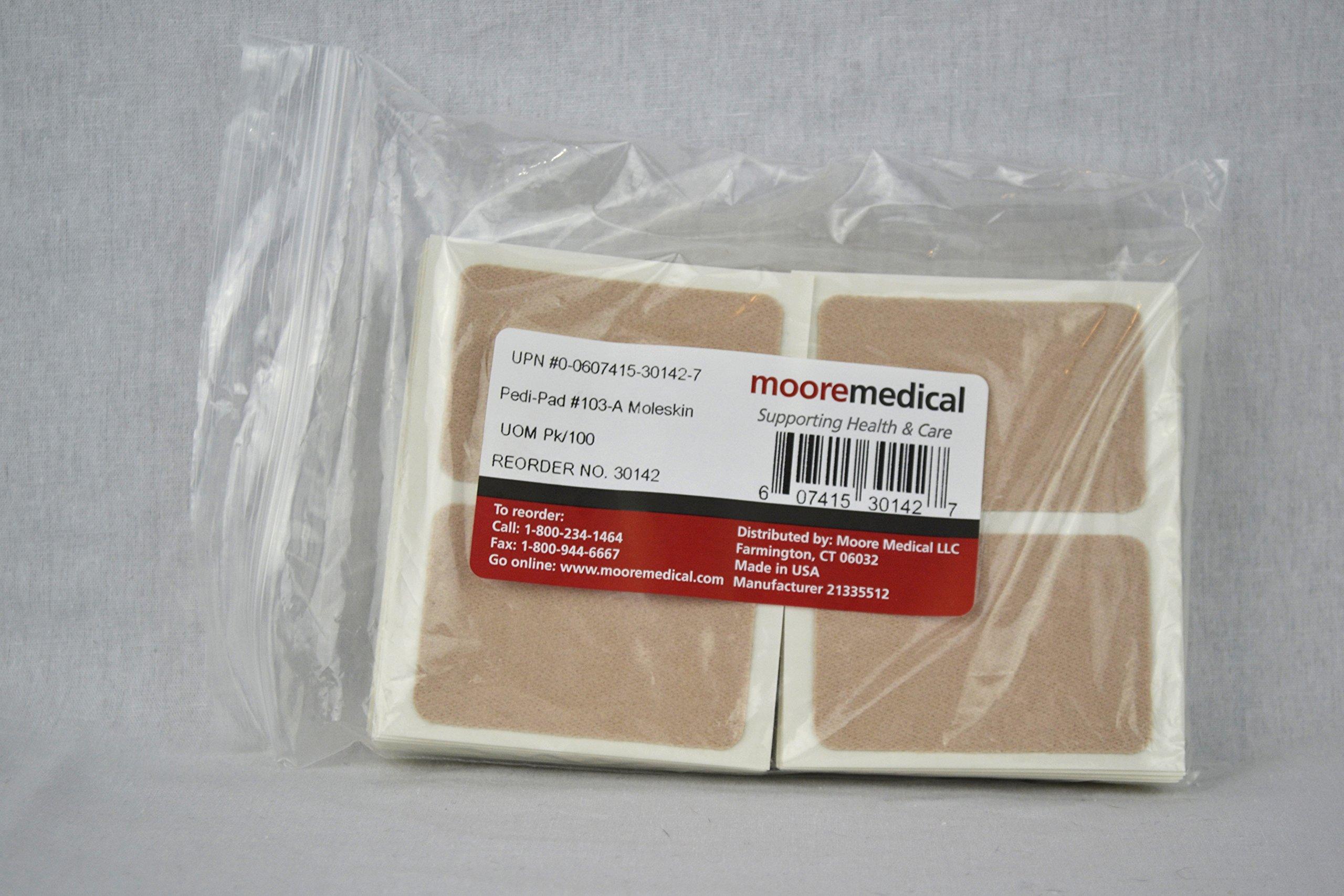 Moore Medical Pedi-pads #103-a Moleskin - Pkg of 100