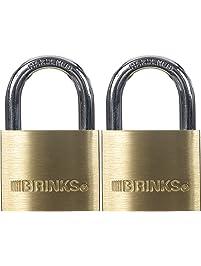 Brinks 171-40202 40mm Solid Brass Padlock, 2 Pack