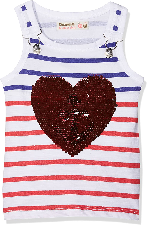 TS/_poolie Desigual Girl Knit T-Shirt Straps Bambina