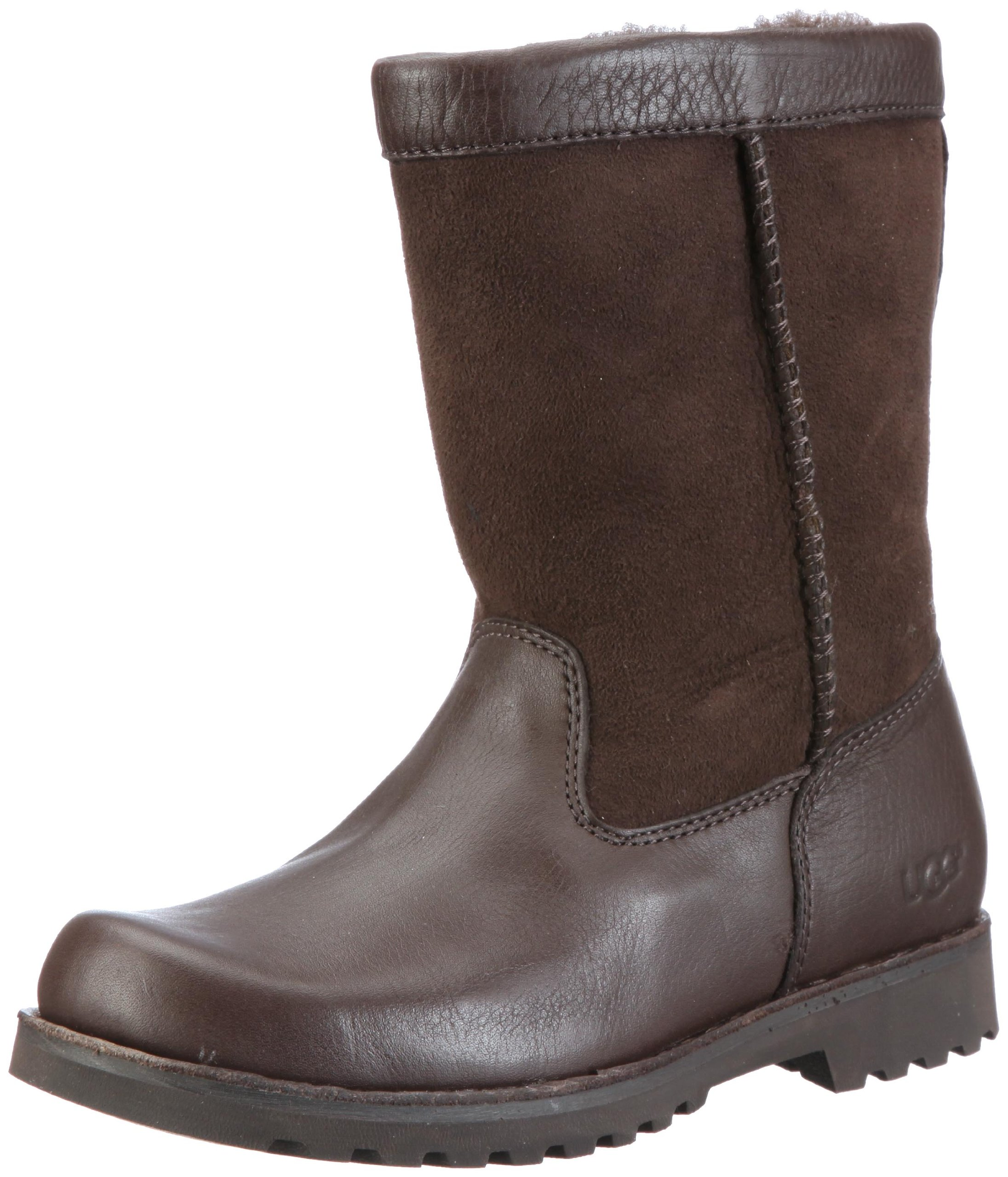 UGG Australia Children's Riverton Suede Boots,Chocolate/Chocolate,4 Child US by UGG