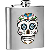 Premier Housewares Skull Design Hip Flask, 6 oz - Stainless Steel