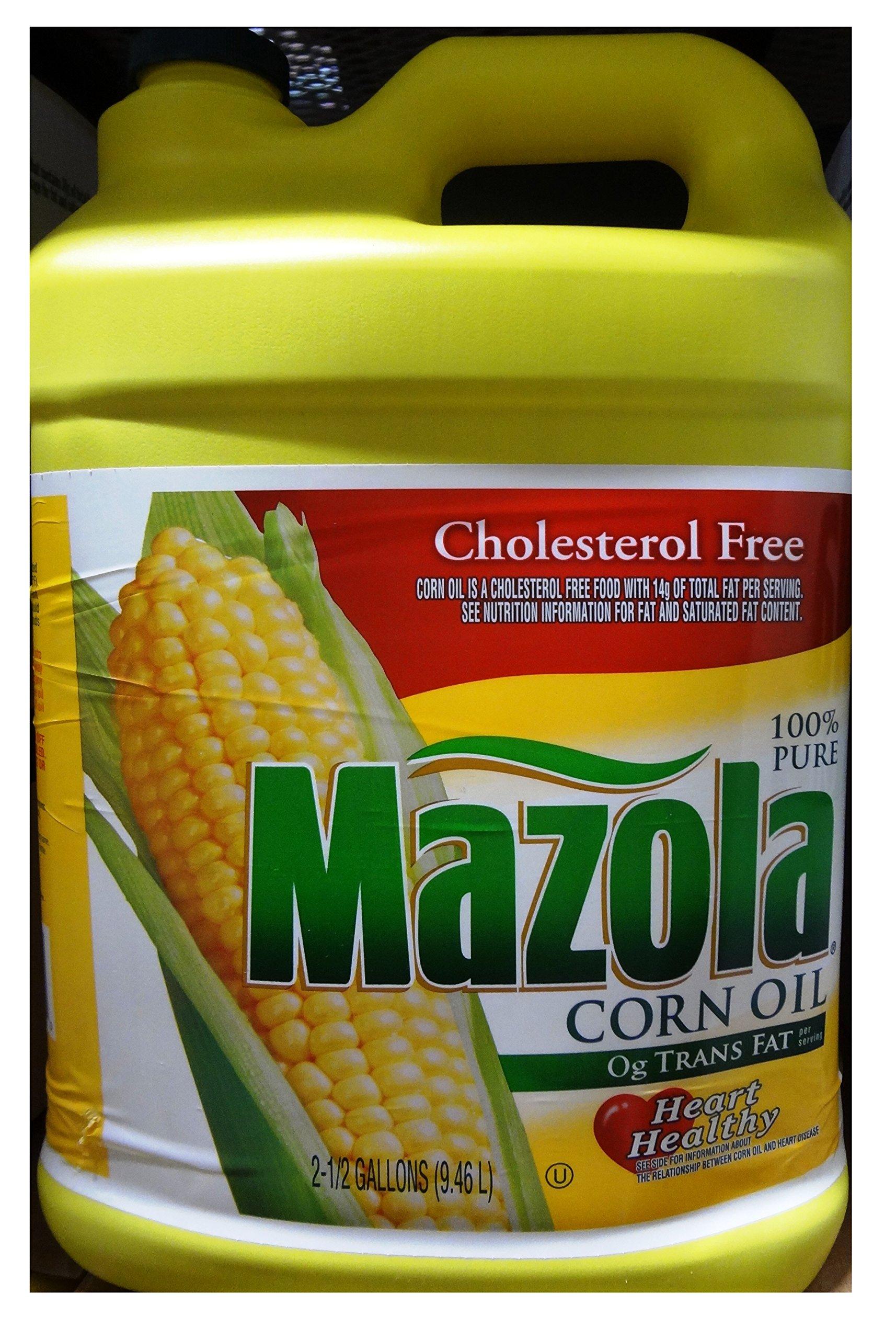 Mazola Cholesterol Free Corn Oil , 2.5 Gallon (Pack of 2)