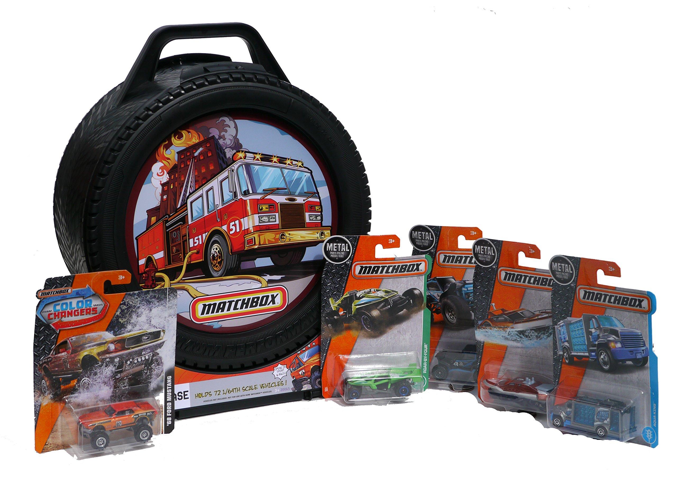 AutoFun Matchbox Die Cast Vehicle Starter Set with 72-Car Storage Case