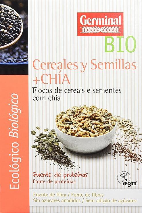 Germinal Copos de Cereales y Semillas de Chía - Paquete de 8 ...