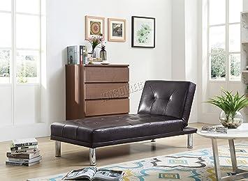 Sofá cama FoxHunter en diseño de chaise longue, individual ...