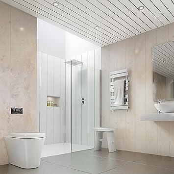 la tienda de revestimiento beige mrmol 5 mm bao pvc revestimiento ducha paneles de pared techo - Revestimiento Pared Pvc