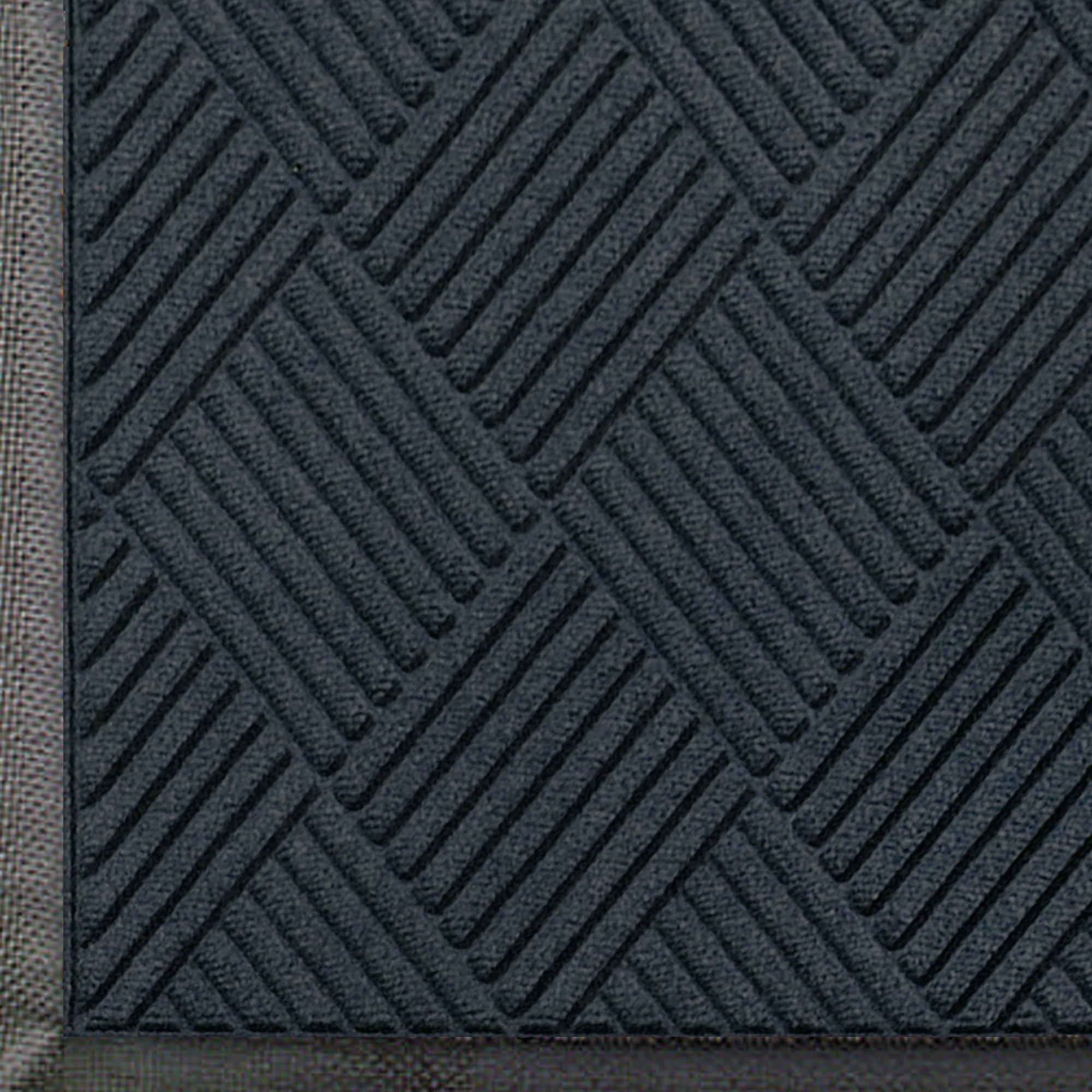 Andersen 208 WaterHog Classic Diamond Polypropylene Fiber Entrance Indoor/Outdoor Floor Mat, SBR Rubber Backing, 6' Length x 4' Width, 3/8'' Thick, Charcoal