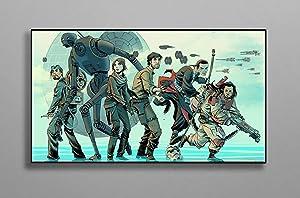 "Print Sci Fi Decor Wall Compatible with Star Wars Poster Wall Decor Canvas Art Wall Art Print Gift Poster Unframed Printing Size - 11""x17"" 18""x24"" 24""x32"" 24""x36"" (XL - 24""x36"" (61x91cm))"