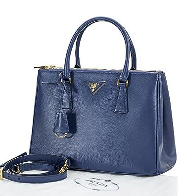 345b0a7a95 Amazon.com  Prada Shopping Bag Saffiano Lux BN1801 - Blue  Shoes