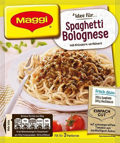MAGGI corrección y espaguetis a la boloñesa fresca (espaguetis a la boloñesa) (paquete