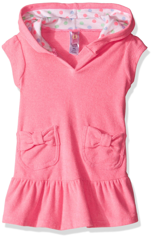 Hulu Star Little Girls' Cotton Cloud Swim Cover up Dress, Pink, Medium