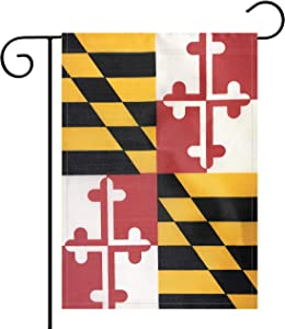 NoLogo Garden Flag Maryland State MD State Flag Garden Flag,Garden Decoration Flag,Indoor and Outdoor Flags,Celebration Parade Flags,State Party Events Celebration,Double-Sided