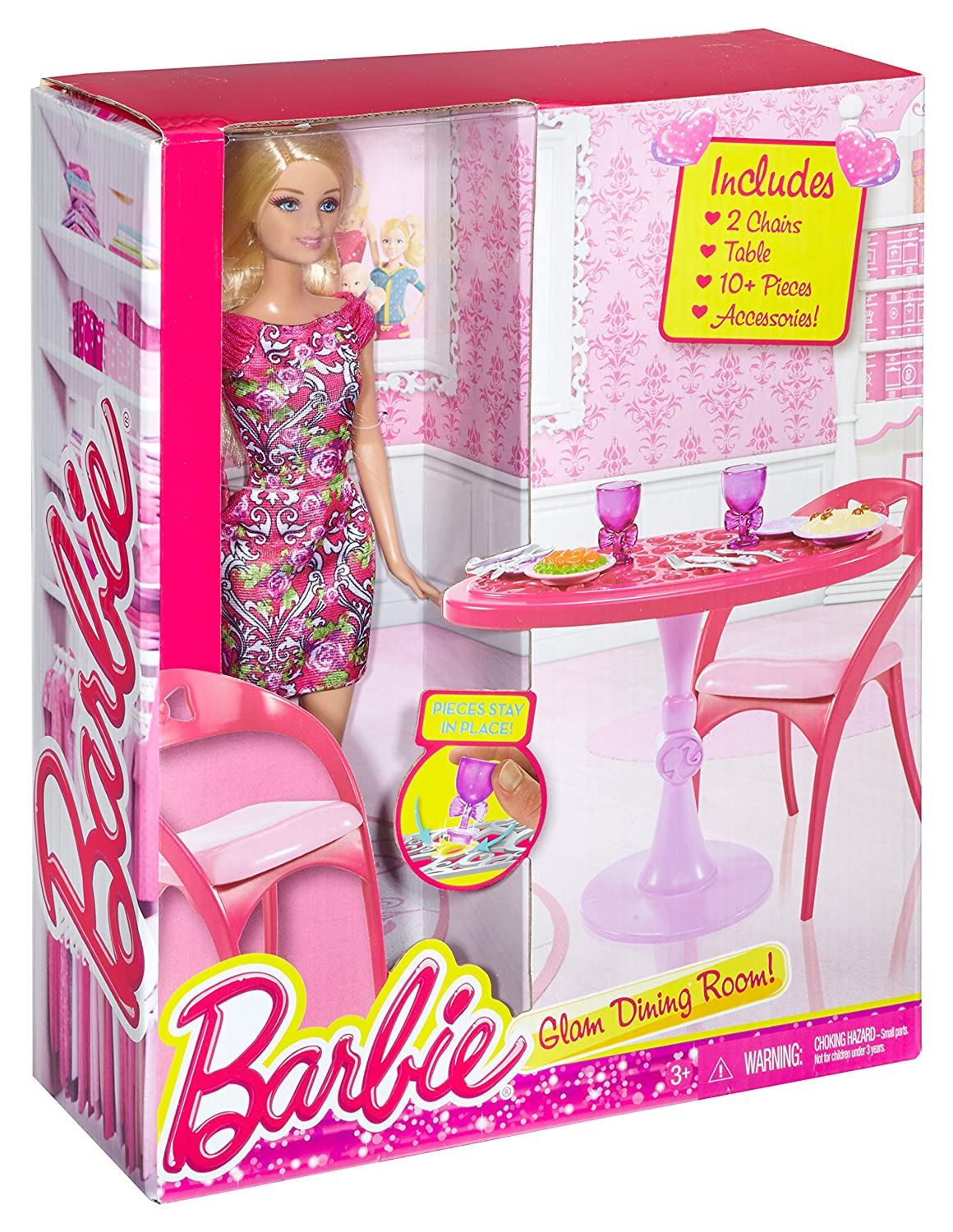 Amazon Barbie Doll And Dining Room Set Toys Games