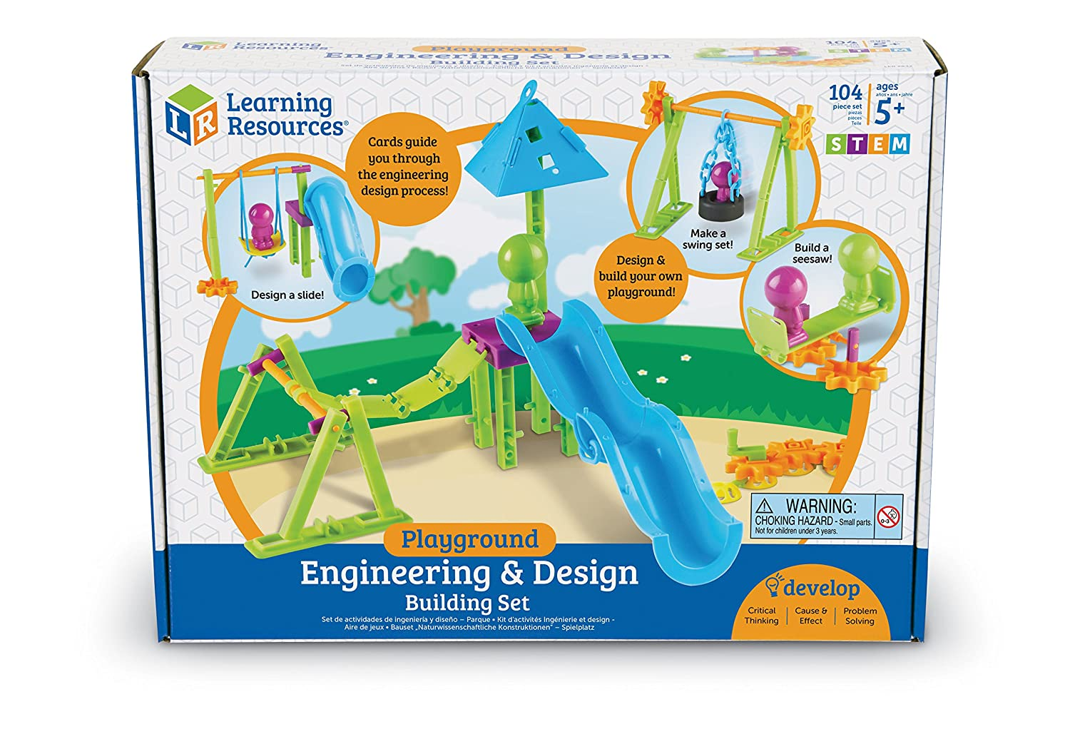 Engineering and design - Amazon Com Learning Resources Playground Engineering Design Stem Set 104 Pieces Toys Games