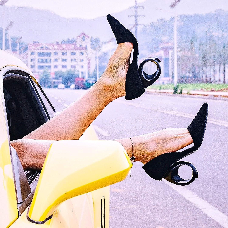AJUNR Donna alla Moda Che Spettacolo con Alte 10cm Sexy Sexy Sexy Mostra di Auto Joker Scarpe a Punta 38 nero 9a72ee