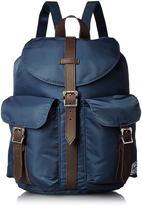 Herschel Supply Co. Dawson Nylon Womens Backpack, Navy Saddle Leather 27438d219b