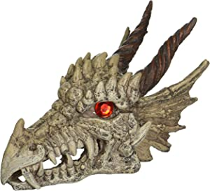 Penn-Plax RR1207 Dragon Skull Gazer Aquarium Ornament and Decor - Available in 2 Sizes for Any Tank, Large