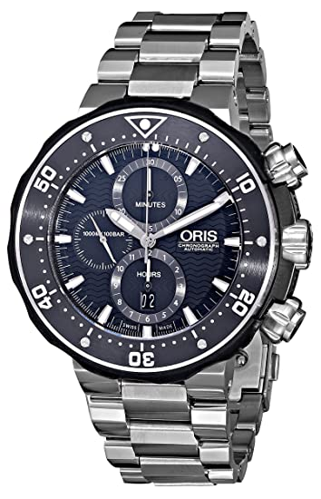 Oris ProDiver - Reloj (Reloj de pulsera, Masculino, Cerámico, Caucho, Titanio