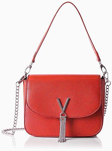 Valentino by Damen Divina Schultertasche, Rot (Rosso), 8x17x23 cm Mario Valentino