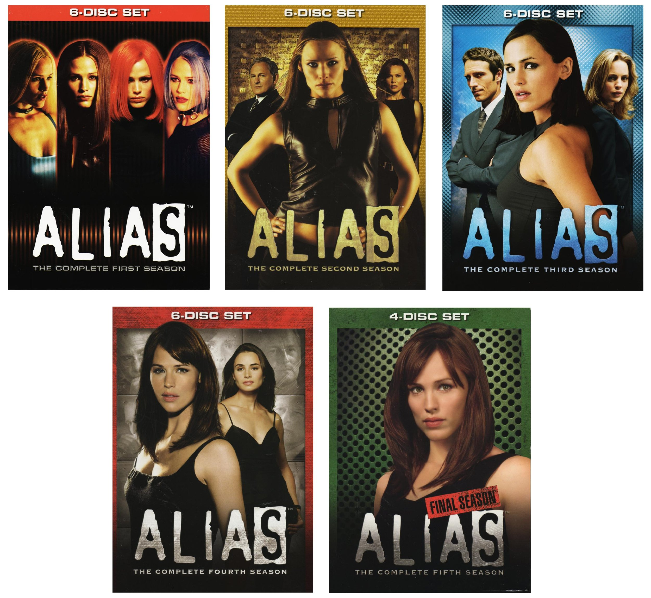 Alias - Seasons 1-5 (Complete Series) [DVD] Jennifer Garner; Victor Garber; book by Alias