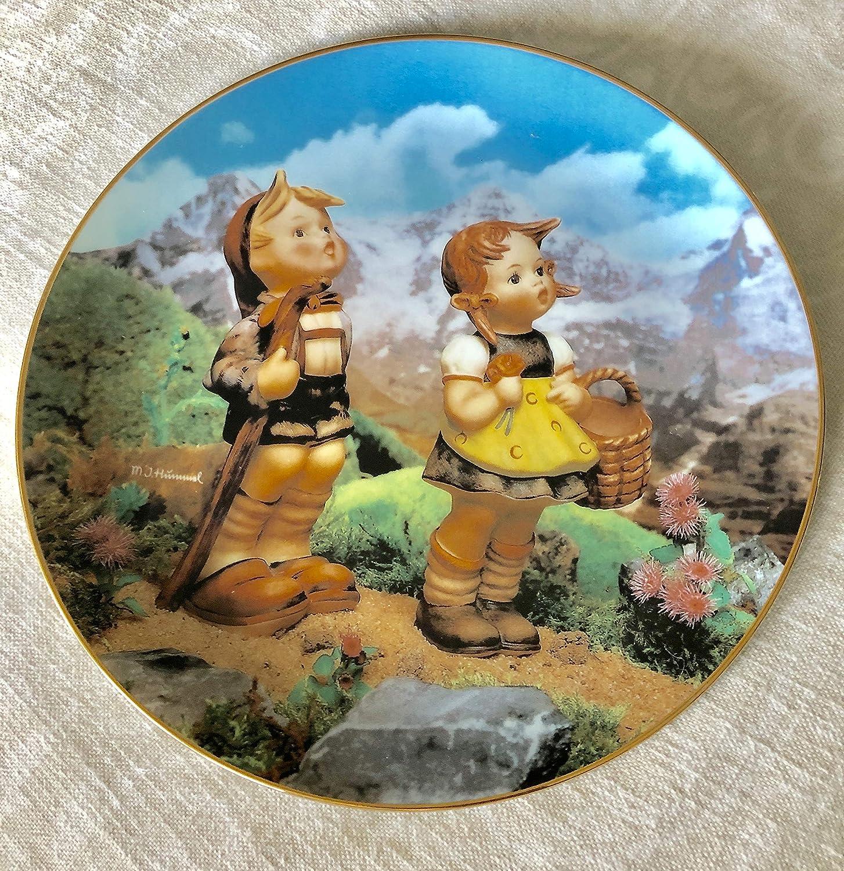Hummel Little Explorers Plate J The Danbury Mint M