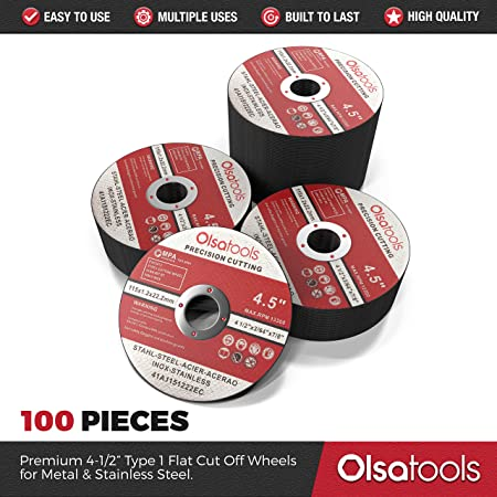50pcs Thin Angle Grinder Cutting Wheel 4.5 x 0.04 x 7//8 50 Pack Cutting Wheels Cutting Wheel and Cut off Wheel for Metal Fab Olsa Tools Cut Off Wheels Grinder Wheel for Fabrication