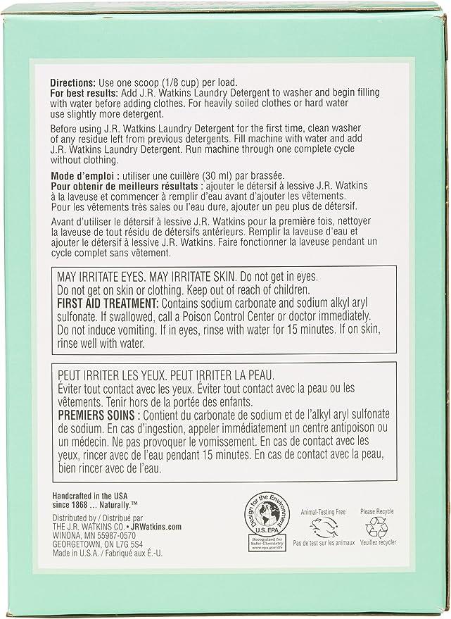 Amazon.com: J. R. Watkins detergente en polvo – 80 OZ ...
