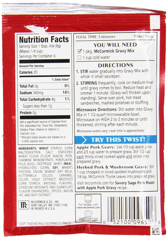 Amazon.com : McCormick Pork Gravy Mix, 0.87 oz (Case of 12) : Meat ...