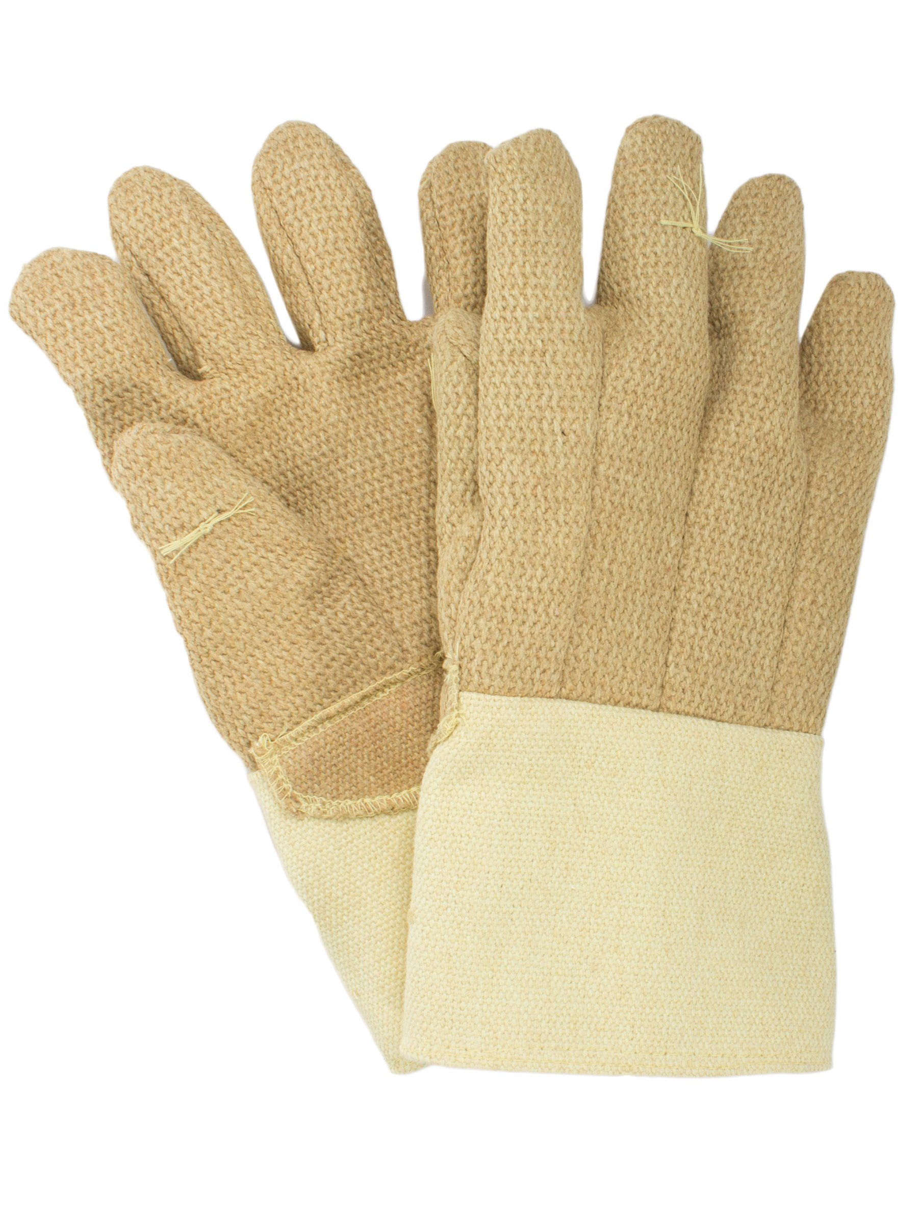 National Safety Apparel G51PBRW13714 PBI/Kevlar Glove with Thermobest Cuff, 22 oz., Large, Yellow