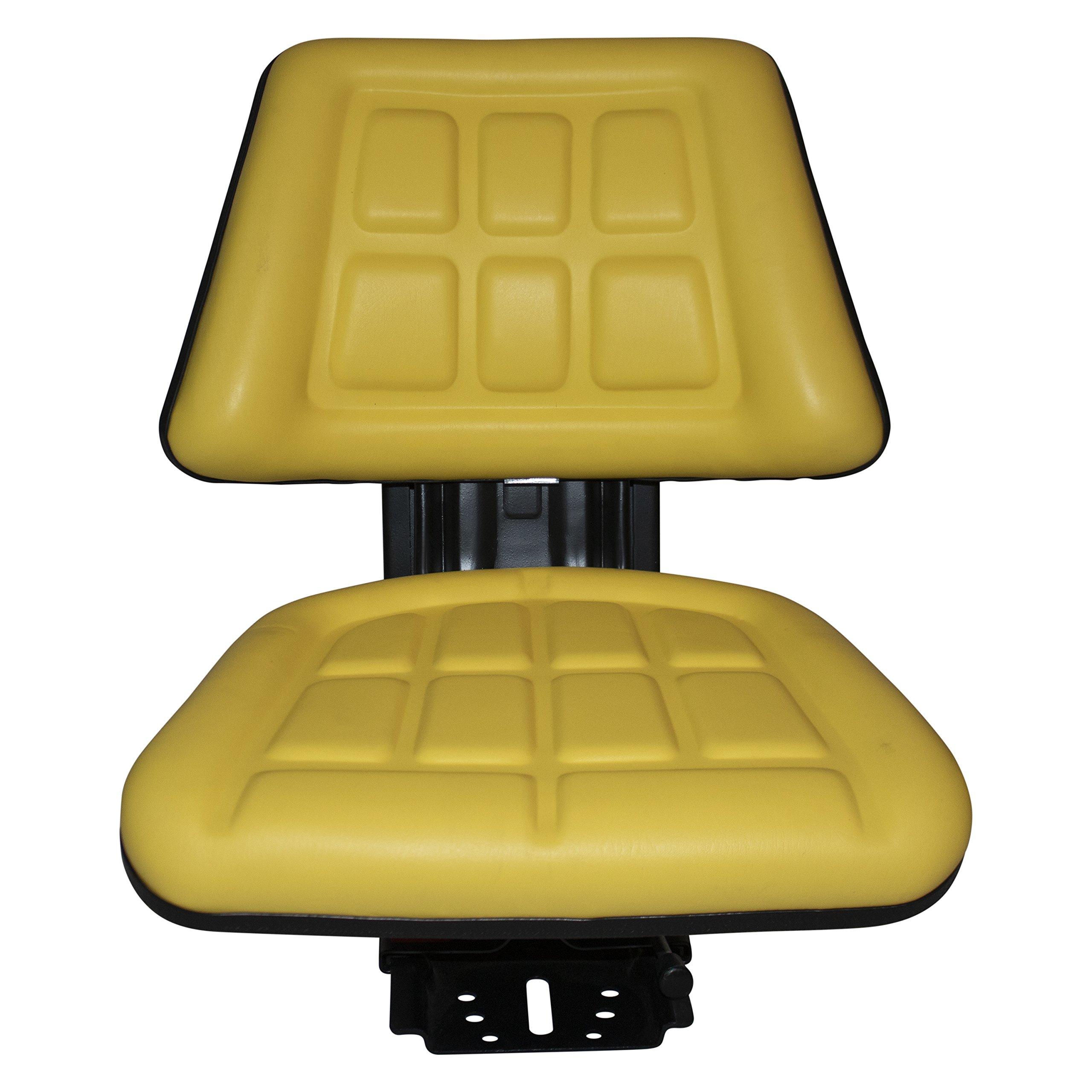 Yellow TRAC SEATS Brand TRIBACK Style Universal Tractor Suspension SEAT with TILT FITS John Deere 2350 2355 2440 (Same Day Shipping - GET IT Fast!! View Our Transit MAP) by TRAC SEATS