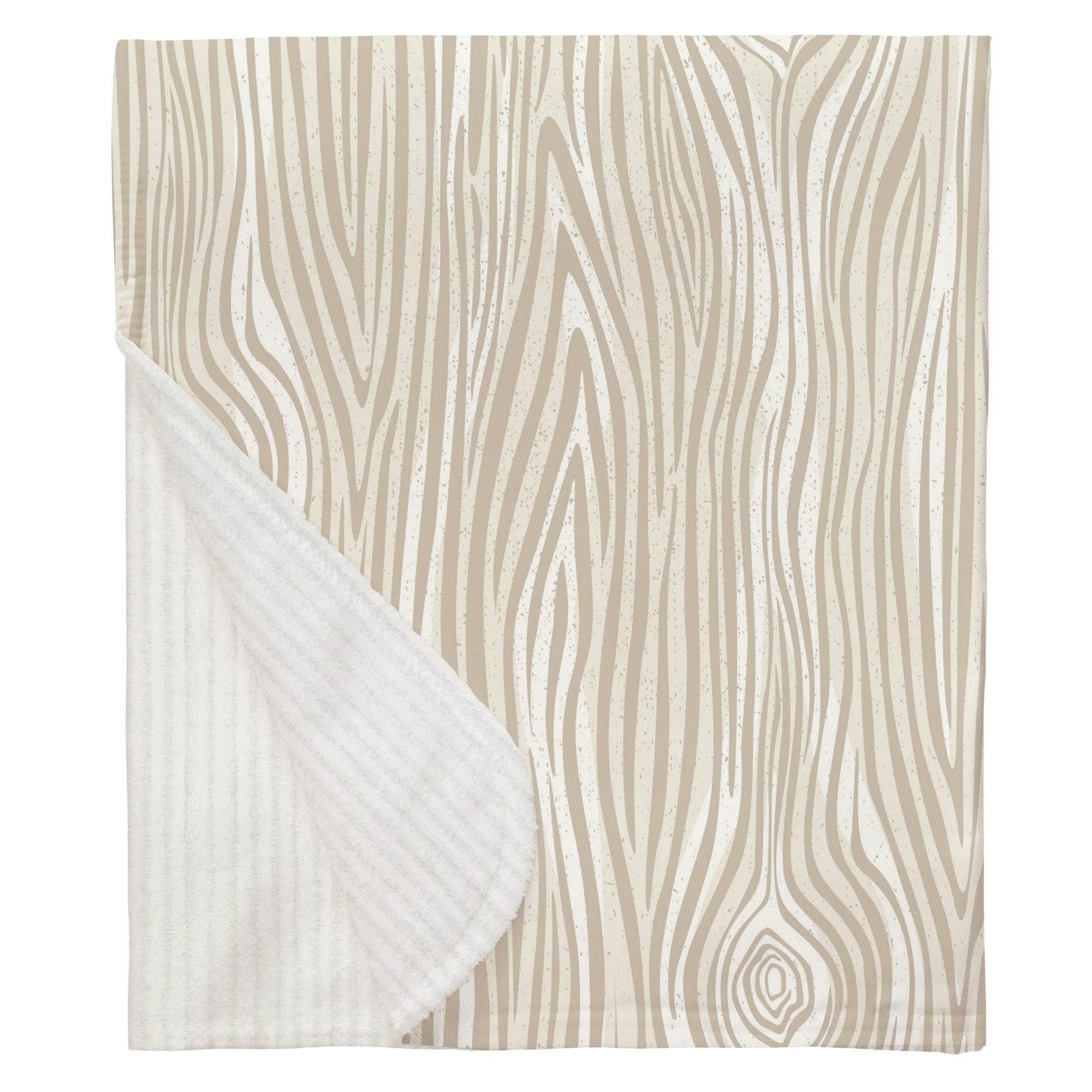 Carousel Designs Taupe Large Woodgrain Crib Blanket