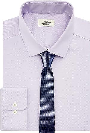 next - Conjunto de Camisa y Corbata para Hombre, Ajuste Estrecho, puños Simples Color Lila. 46 ES/Regular: Amazon.es: Ropa y accesorios