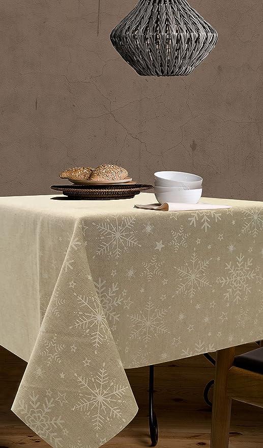 Mantel Antimanchas Navidad Meribel 50%algodón 50%poliéster con protección de resina y Teflón de Dupont®: Amazon.es: Hogar
