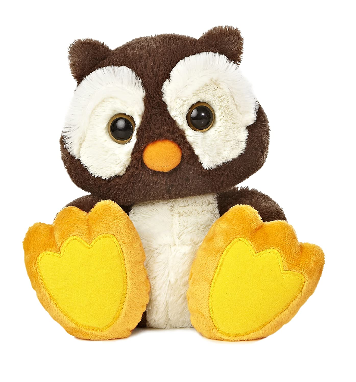 Amazon Com Aurora World Taddle Toes Winks Owl Plush 10 Tall Toys