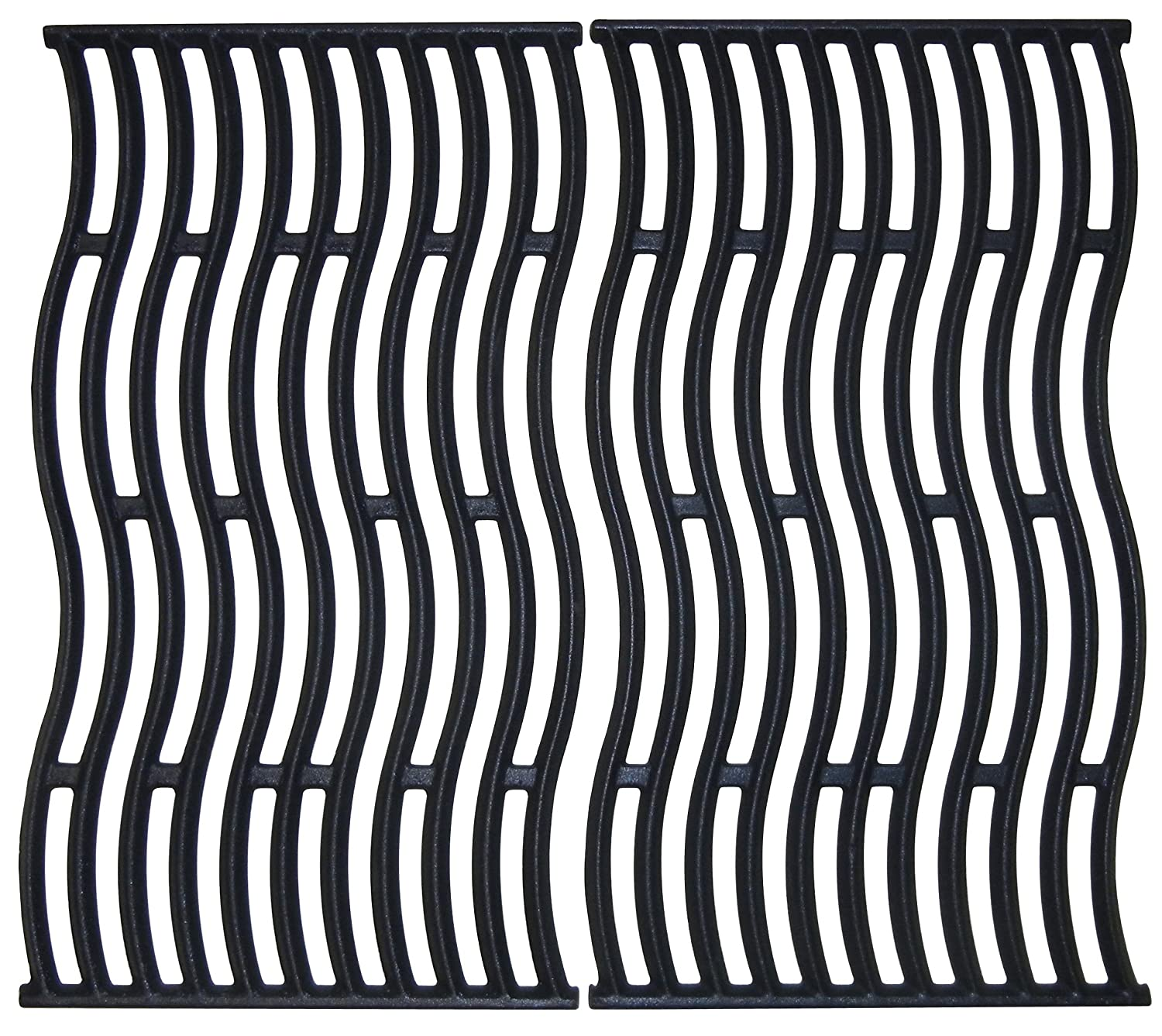 Music City Metals Matte Cast Iron Cooking Grid Replacement for Napoleon Gas Grill Models, Set of 2 67682
