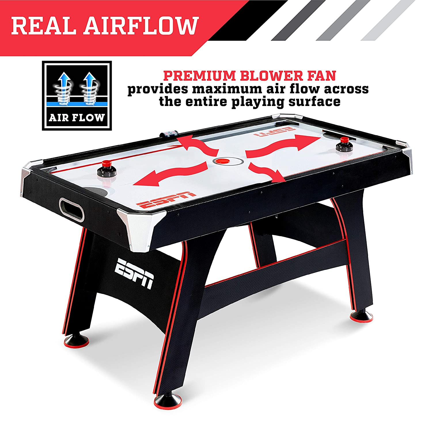 Amazon Com Espn Air Hockey Game Table Indoor Sports Gaming Table