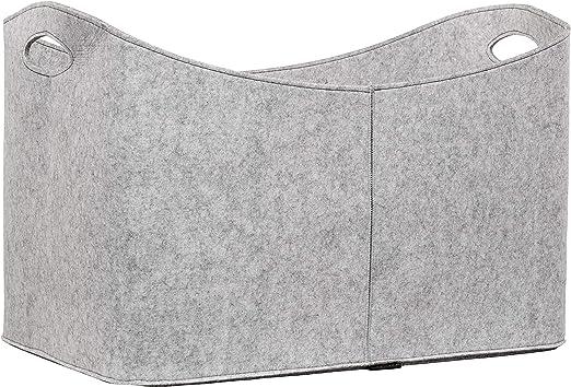 Kaminholz in anthrazit grau Filztasche Ma/ße 40 x 23 x 30 cm Premium Kaminholztasche aus Filz f/ür Holz flamaroc/® Zeitungen