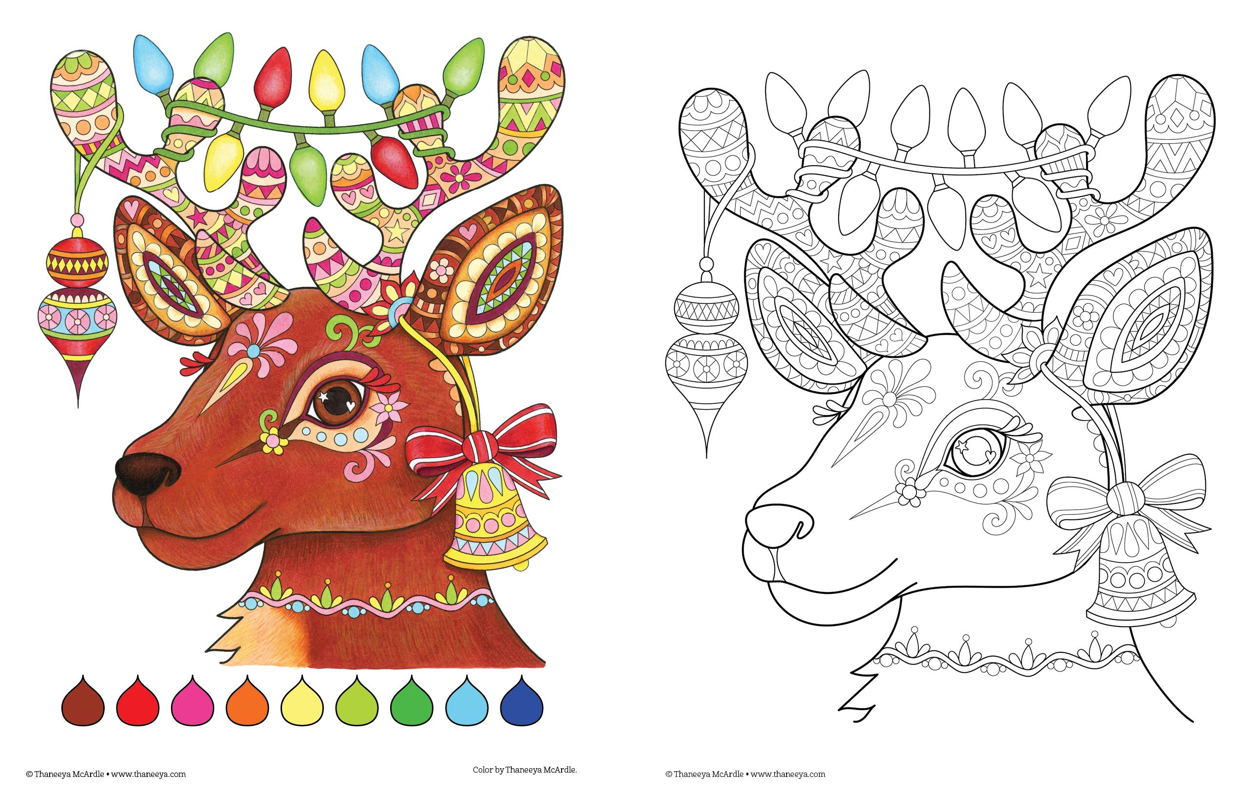 Amazon Christmas Coloring Book Is Fun Design Originals 32 Playful Holiday Art Activities From Thaneeya McArdle On High Quality