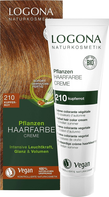 Logona cosmetici naturali Piante di Colore dei capelli crema 210rame rosso, 150ML LOGONA Naturkosmetik 3003