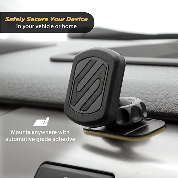 SCOSCHE MAGDMWT MagicMount Universal Magnetic Phone//GPS Mount for the Car Home or Office White