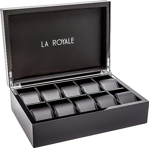 LA ROYALE Felice XL Relojes Box – Caja para 10 Relojes: Amazon.es ...