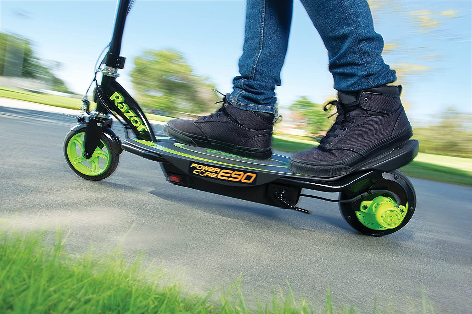 Razor Power Core E90 Electric Scooter Toy Green Sports Sweet Pea Wiring Diagram Outdoors