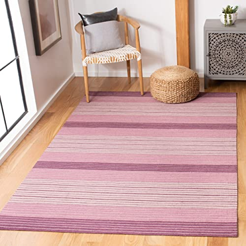 Safavieh Marbella Collection MRB281A Flat Weave Lilac Wool Area Rug 8' x 10'