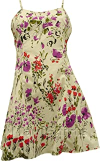 product image for Paradise Found Womens Wild Flower Splash Princess Seam Mini Cotton Sundress