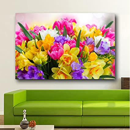 Buy Total Home Beautiful Spring Flowers Wallpaper Poster No