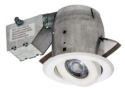 Amazon nadair gu378l swwh 4in led recessed light swivel nadair gu378l swwh 4in led recessed light swivel spotlight dimmable downlight ic rated aloadofball Choice Image
