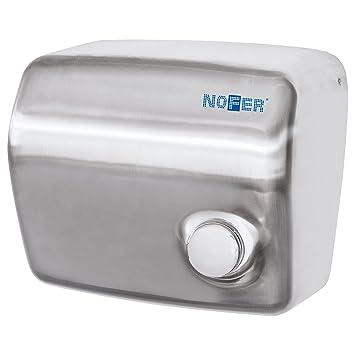 Nofer 01250.s Kai Secador de Manos con botón pulsador Acero Inoxidable Satin Plata 30 x 26 x 18 cm: Amazon.es: Hogar