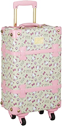 b194d89de0 Image Unavailable. Image not available for. Color  Hello Kitty 19 quot   Steamer Trunk Suitcase  Pink